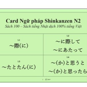 flashcard shinkanzen ngữ pháp n2