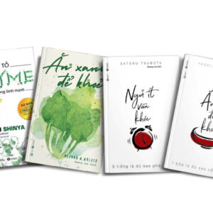 Combo sách định hướng cách sống lành mạnh: Nhân Tố Enzyme 1 - Phương Thức Sống Lành Mạnh & Ăn Xanh Để Khỏe & Ăn Ít Để Khỏe + Ngủ Ít Vẫn Khỏe