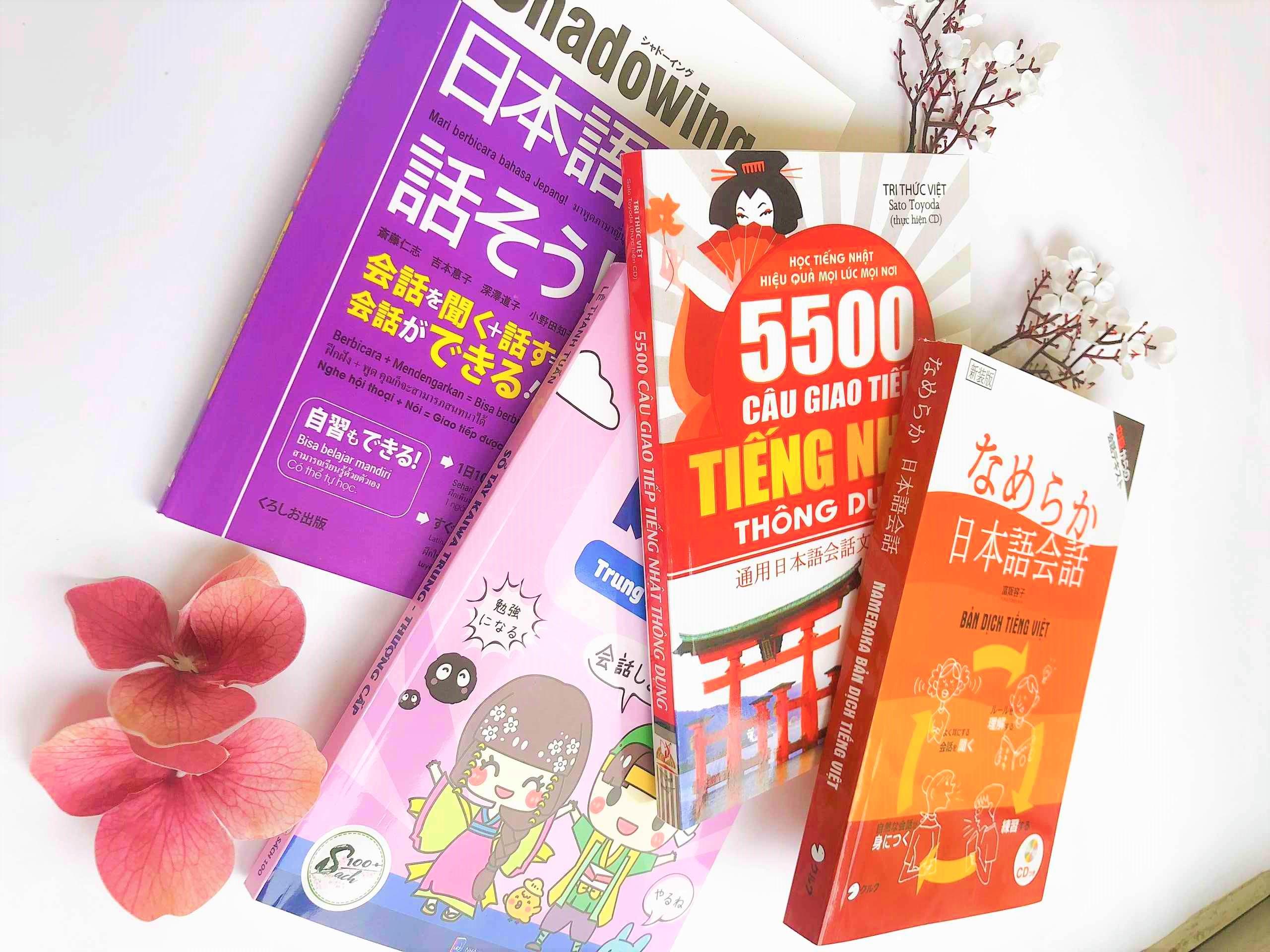 Combo Kaiwa Thực chiến Sổ tay Kaiwa trung thượng cấp + Namekara Nihongo Kaiwa + Shadowing tiếng Nhật sơ trung cấp + 5500 câu giao tiếp tiếng Nhật thông dụng