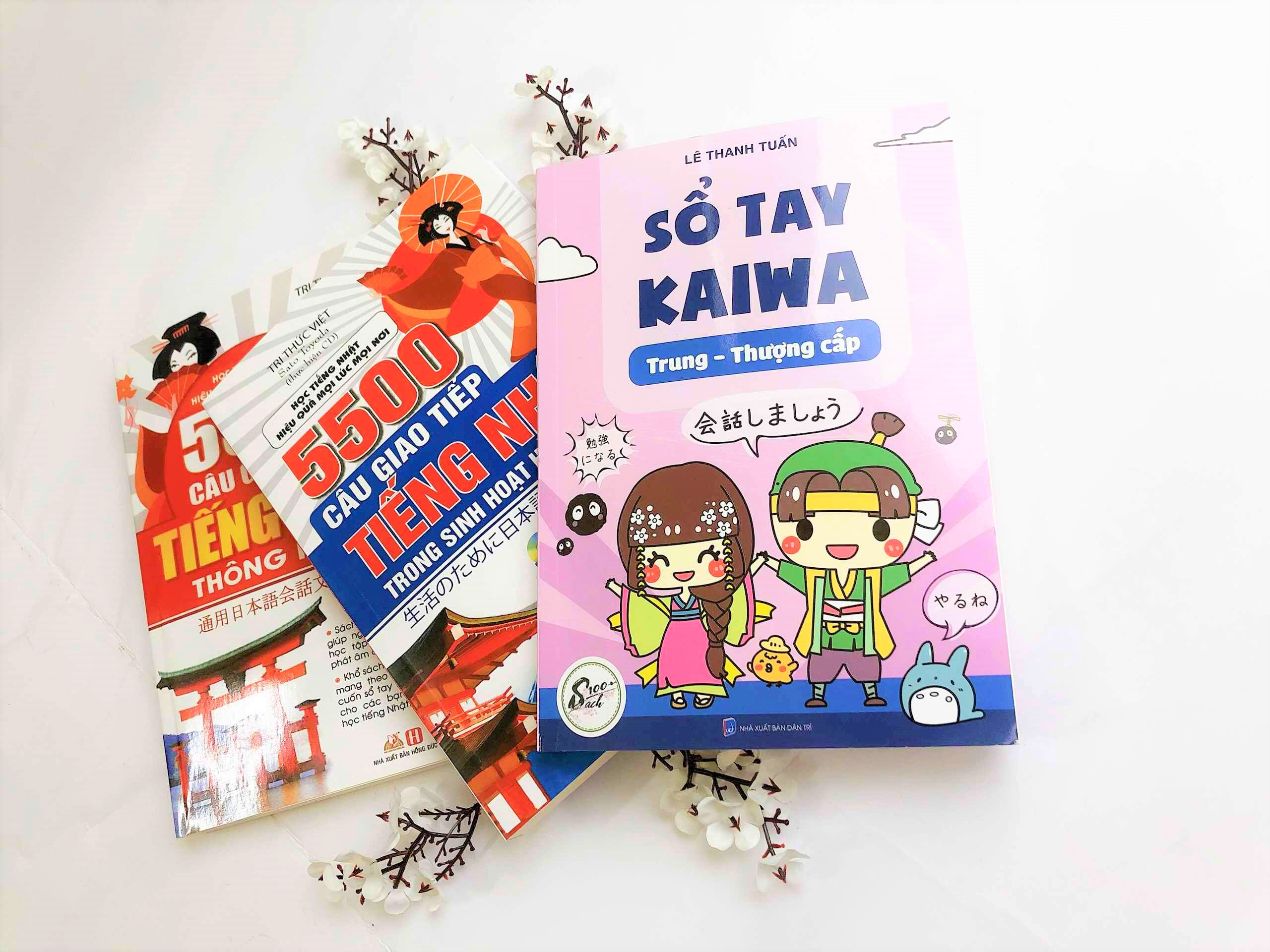[Freeship] Combo Kaiwa Cấp tốc Sổ tay Kaiwa 3 + 5500 câu giao tiếp tiếng Nhật trong sinh hoạt hằng ngày + 5500 câu giao tiếp tiếng Nhật thông dụng