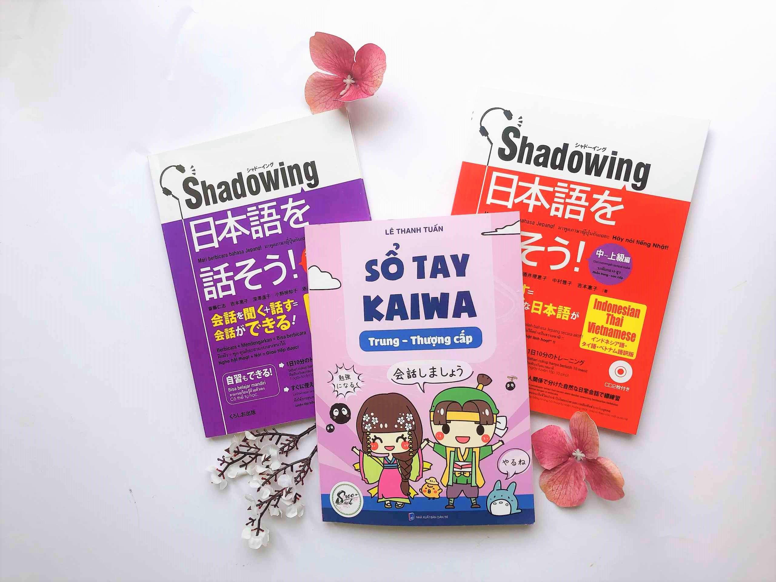 combo sổ tay kaiwa trung thượng cấp shadowing sơ trung cấp shadowing trung thượng cấp