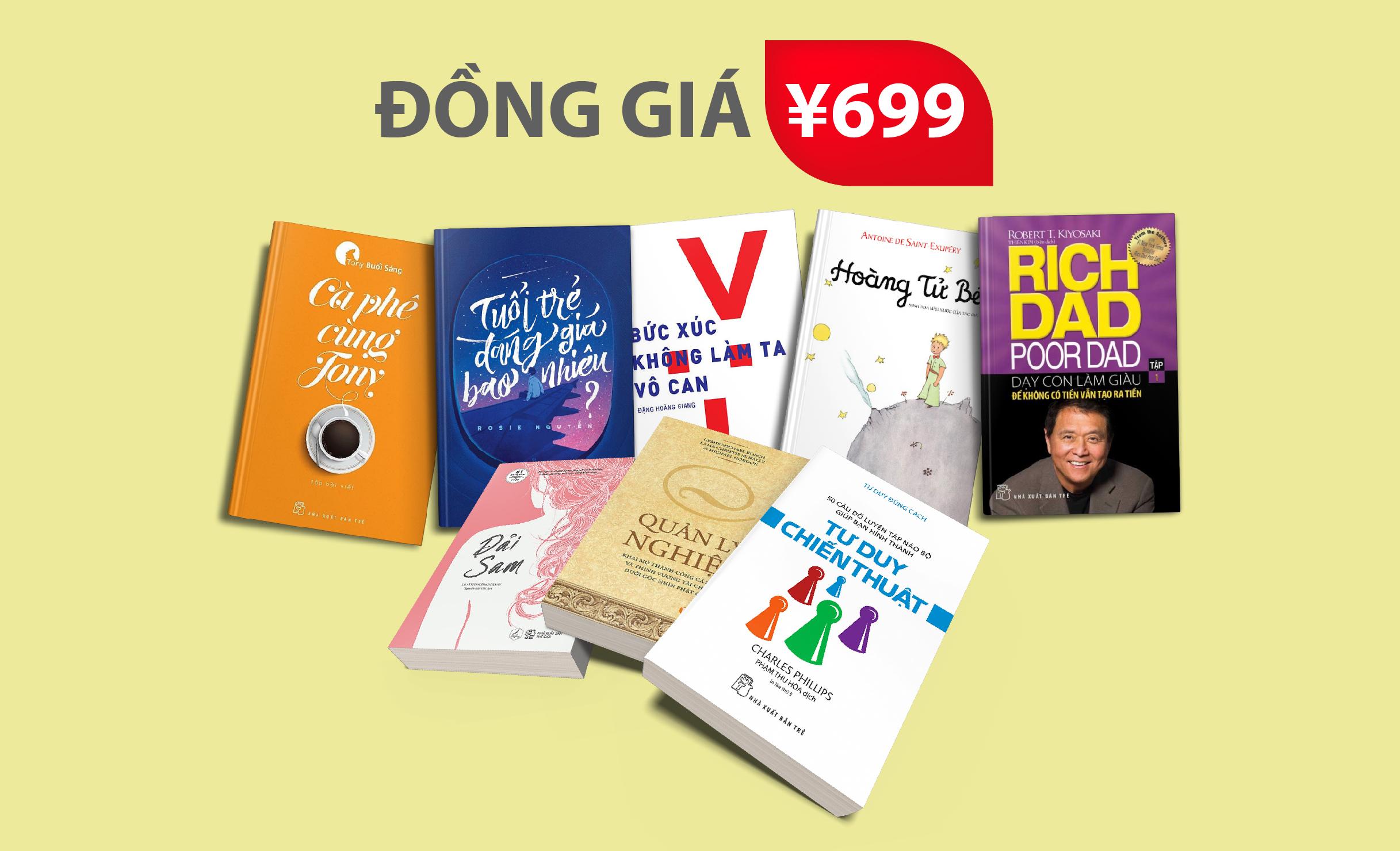 Sách tiếng Việt tại Nhật đồng giá 699 yên